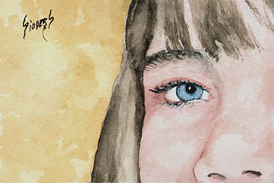 Painting - The Eyes Have It - Bryanna by Sam Sidders