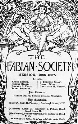 Crane Drawing - The Fabian Society Report by Walter Crane