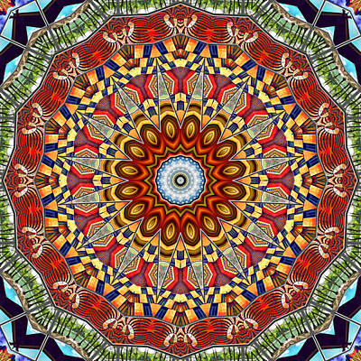 Kaleidoscope Digital Art - The Fairground Collective 07 by Wendy J St Christopher