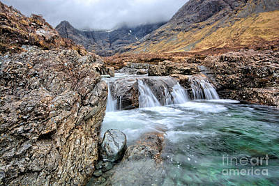 Glen Photograph - The Fairy Falls by Stephen Smith