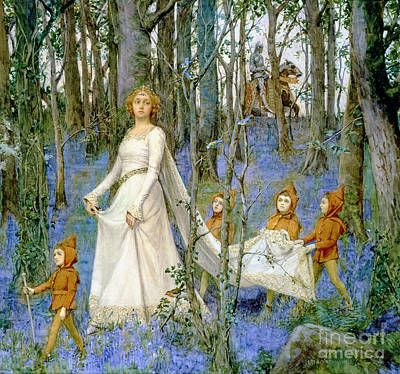Woodlands Scene Painting - The Fairy Wood by Henry Meynell Rheam