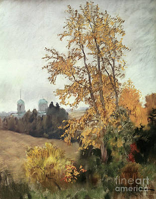The Fall Print by Isaak Ilyich Levitan
