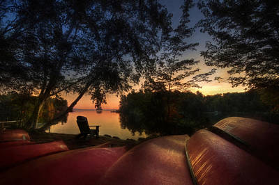 Canoe Mixed Media - The Fall Lineup by Lori Deiter
