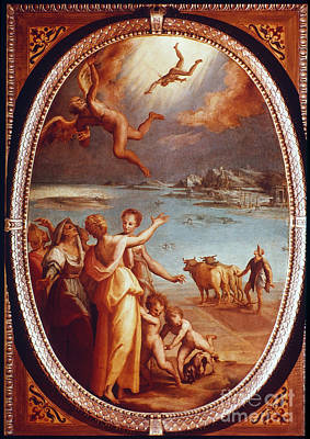 Painting - The Fall Of Icarus by Granger