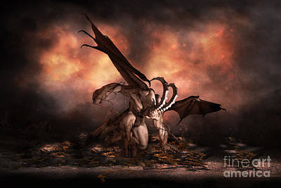 Demon Digital Art - The Fallen by Shanina Conway