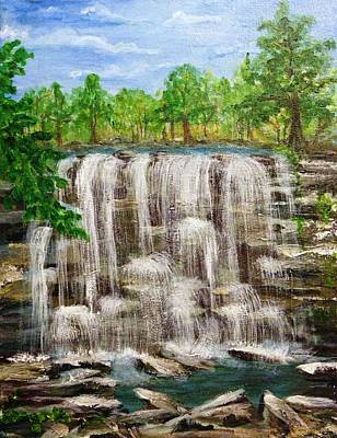 Acylic Painting - The Falls by Peggy King
