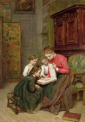 The Family Album Print by Charles Edouard Frere