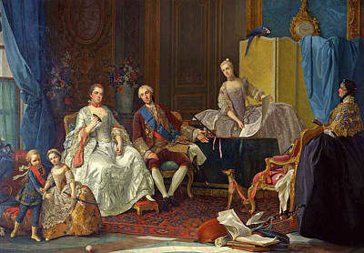 Painting - The Family Of Philip Of Parma by Giuseppe Baldrighi