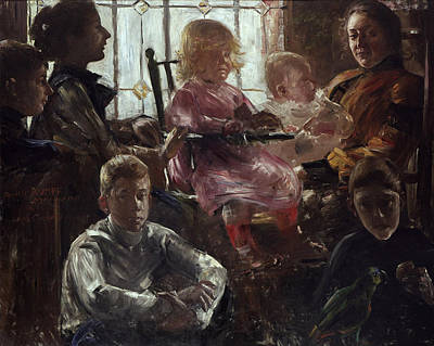 Lovis Corinth Painting - The Family Of The Painter Fritz Rumpf by Lovis Corinth