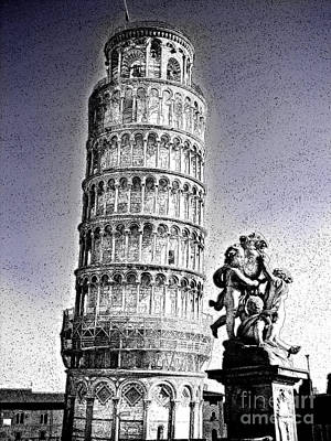 The Famous Leaning Tower Of Pisa Print by Al Bourassa