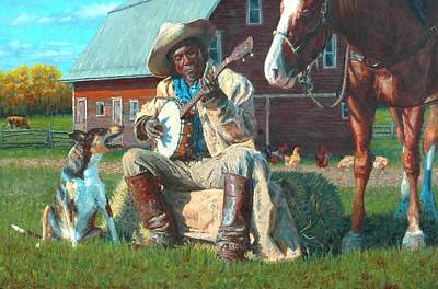 Ranchers Painting - The Fan Club by Jim Clements