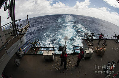 Carrier Painting - the fantail of the Nimitz-class aircraft carrier USS George Washington by Celestial Images
