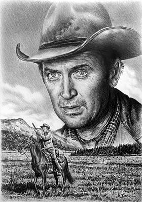 Wild Horse Drawing - The Far Country by Andrew Read