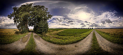 Blend Photograph - The Farm At Dusk by Mountain Dreams