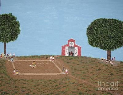 Softball Painting - The Farm Diamond by Gregory Davis