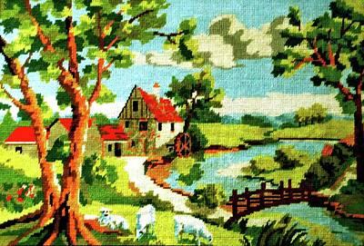 Fine Thread Tapestry - Textile - The Farm House by Farah Faizal
