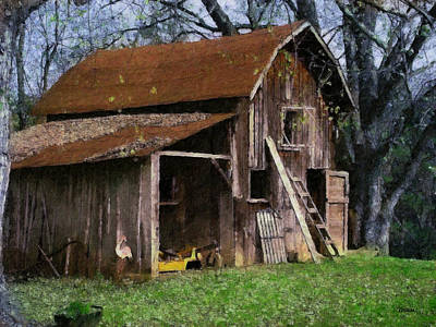 Aged Wood Digital Art - The Farm by Teresa Mucha