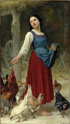 Elizabeth Jane Gardner Painting - The Farmer's Daughter by Elizabeth Jane Gardner Bouguereau