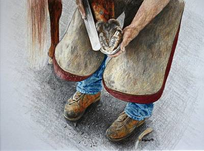 The Farrier Print by Kathy Roberts