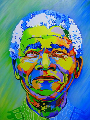 The Father Of The Rainbow Nation  Print by Netsa Lemma