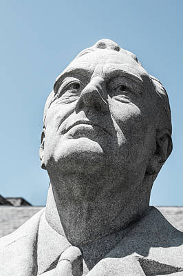 Hyde Park Digital Art - The Fdr Statue by Tiffany Anthony