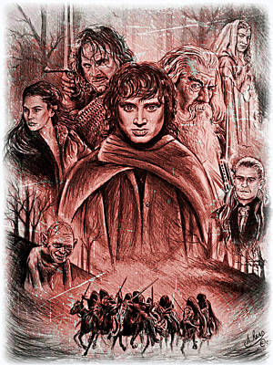 The Fellowship Frost Version Print by Andrew Read