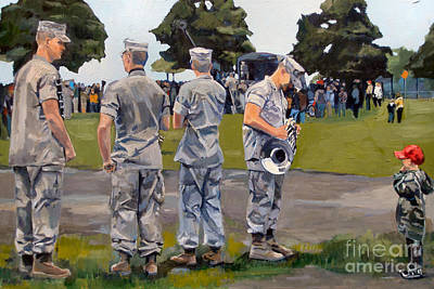 Southie Painting - The Few The Proud by Deb Putnam