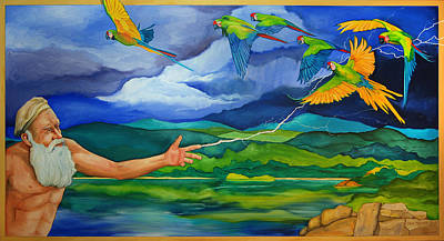 The Beginning Painting - The Fifth Day by Robert Lacy