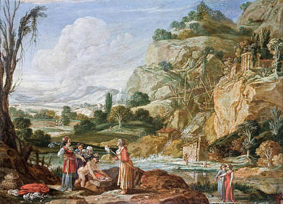 Bartholomeus Breenbergh Painting - The Finding Of Moses by Bartholomeus Breenbergh