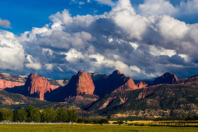The Fingers Of Kolob Print by TL  Mair