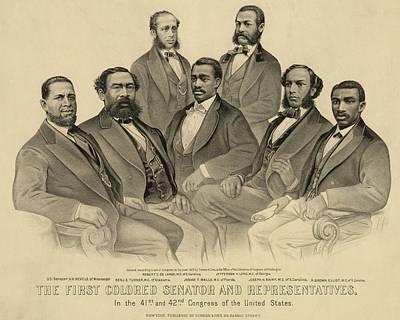 The First African American Senator Print by Everett