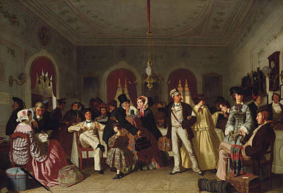 The First And Second Class Waiting Room Print by Carl Henrik d'Unker