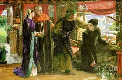 The First Anniversary Of The Death Of Beatrice Print by Dante Gabriel Rossetti