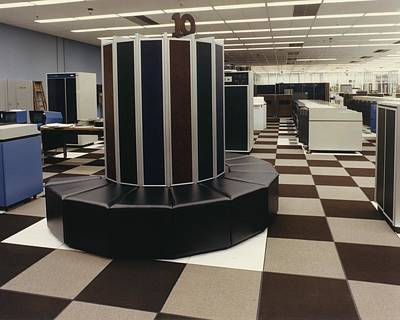 Photograph - The First Cray-1 Super Computer by Everett