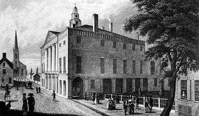 The First Federal Hall, At 26 Wall Print by Everett