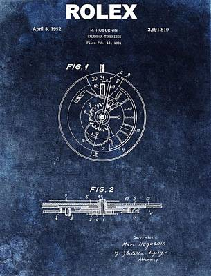 Calendars Mixed Media - The First Rolex Patent by Dan Sproul