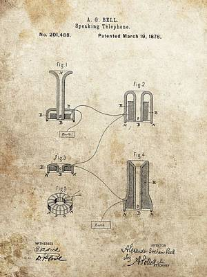 The First Telephone Patent Print by Dan Sproul