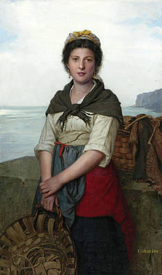 Eugenie Salanson Painting - The Fishergirl by Eugenie Marie Salanson