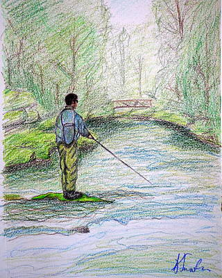 The Fisherman Print by Kirsten Sneath