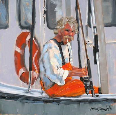 The Fisherman Print by Laura Lee Zanghetti