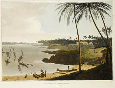 Drawing - The Fishing Cove Near Columbo by Samuel Daniell