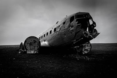 Abandoned Air Plane Photograph - The Flight Of Douglas Super Dc-3 Della Us Navy  by Stefano Savi