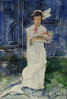 The Flower Holder Print by Shirley Sykes Bracken