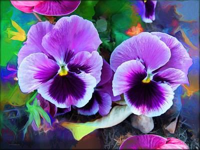 Vivid Colors Photograph - The Flowers Of Eleanor  by Daniel  Arrhakis