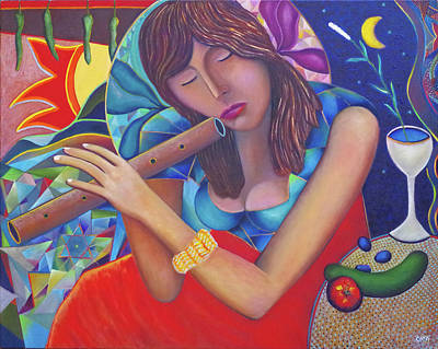 The Flute Player Original by Andrew Osta