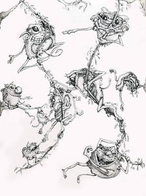 The Flying Puffballs Print by Philip Straub