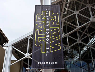 The Force Awakens Banner  Print by David Lee Thompson