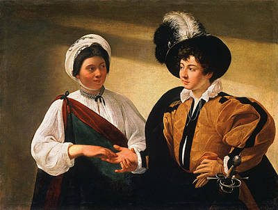 Caravaggio Painting - The Fortune Teller by Caravaggio