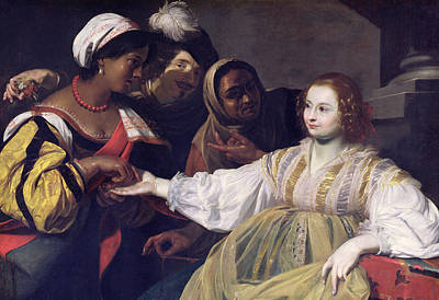 Slaves Painting - The Fortune Teller by Nicolas Regnier