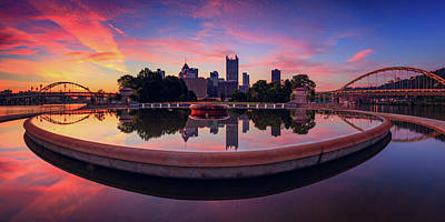 The Fountain At Point State Park  Print by Emmanuel Panagiotakis